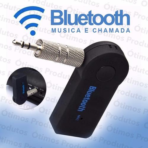 new receptor bluetooth adaptador musica p2 c/ bateria carro