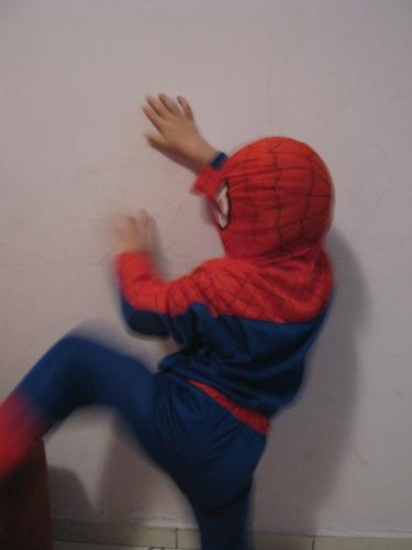 *new* roupa fantasia infantil spider man homem aranha tam. g