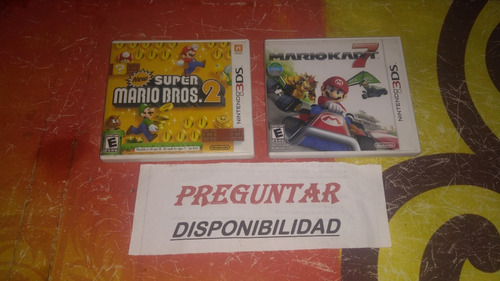 new super mario bros 2 n3ds y mario kart 7