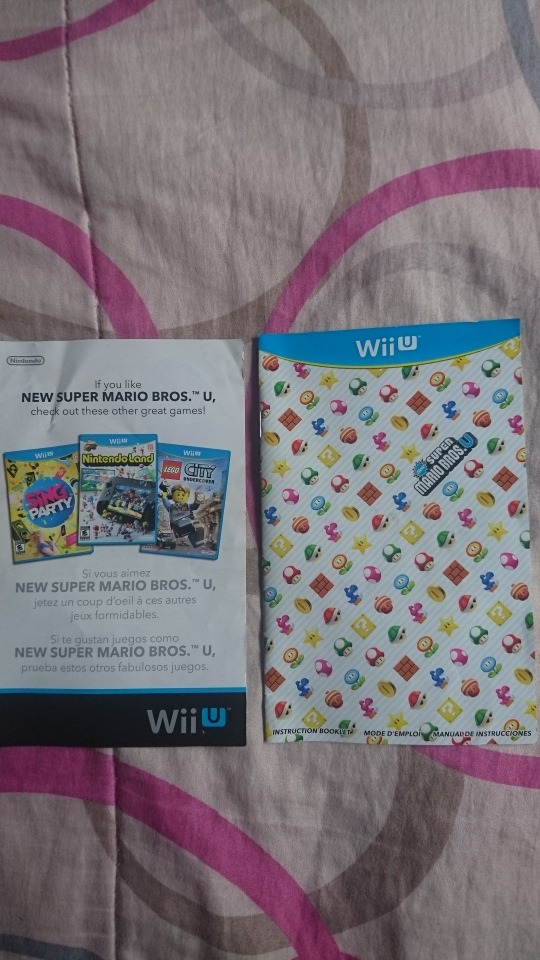 New Super Mario Bros U Nintendo Wii U Manual Buen Estado 13000