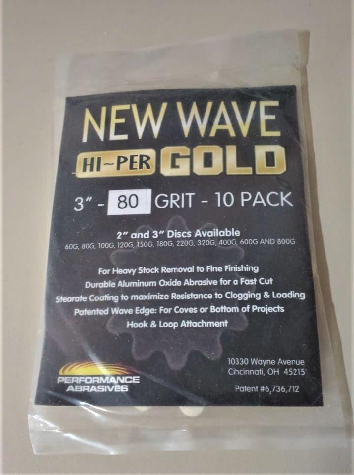 New Wave Hi-Per Gold 3 Sanding Disc 600 Grit 10 Pack