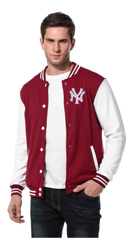 new york jaqueta college varsity americanas bordadas