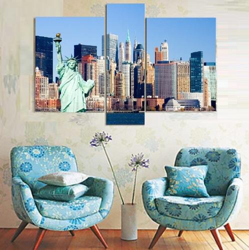 new york, pinturas- cuadros polipticos, paisajes, edificios