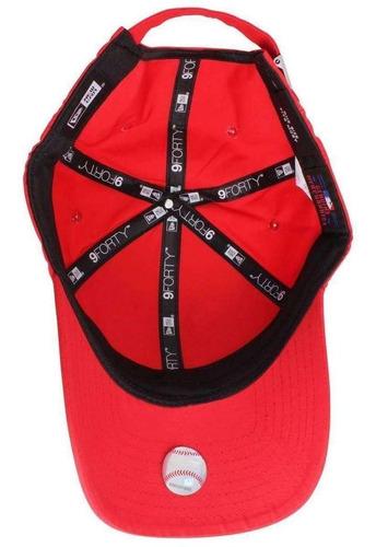new york yankees new era rojo dad hat strapback 9forty mlb