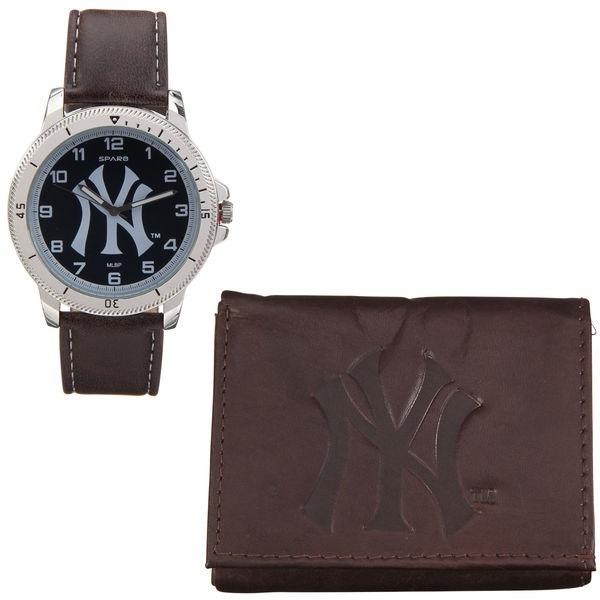 Y Marca Billetera Yankees Sparo Set Reloj York New L4j35AR