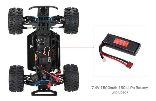 new zd racing coche rc 9053 mt 1/16 brushless rtr lipo