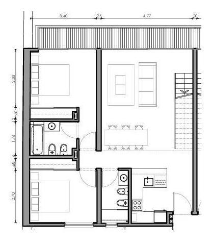 newbery 3364 - casas urbanas - ph 3 amb c/balcon y terraza propia