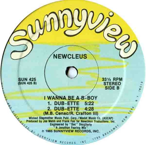newcleus    12 single    i wanna b a b-boy