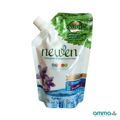 newen detergente biodegradable 250ml - no se enjuaga