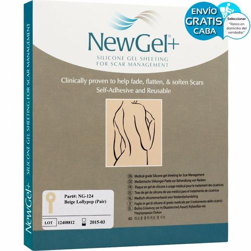 newgel 124 laminas de silicona cicatrices busto color beige