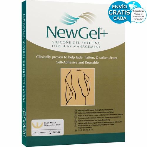 newgel 126 laminas de silicona cicatrices busto color beige