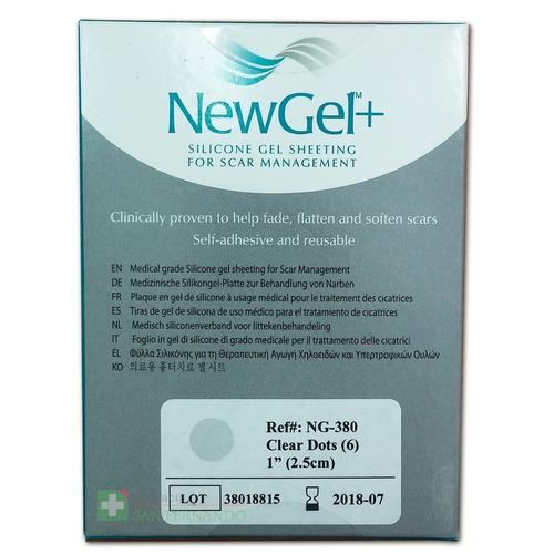 newgel tiras de gel circulares para cicatrices ng-380