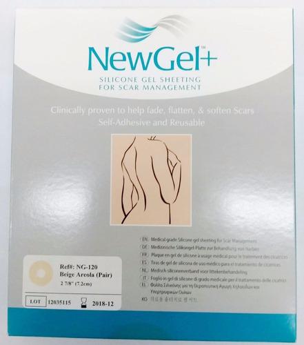 newgel+ tiras para cicatrices mamarias ng-120 beige areolas