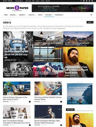 Newspaper8 - Tema Wordpress Portal De Notícias - R$ 5,00 em Mercado ...