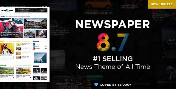 Newspaper8 - Tema Wordpress Portal De Notícias (atualizado) - R$ 11 ...