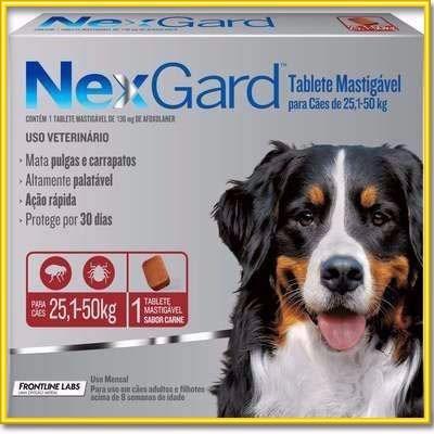 nexgard masticable antipulgas garrapatas perros 25 a 50 kg