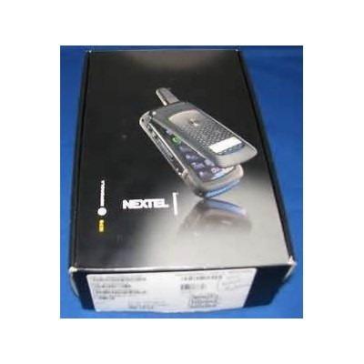 nextel i576 rugged phone gris negro caja original de goma