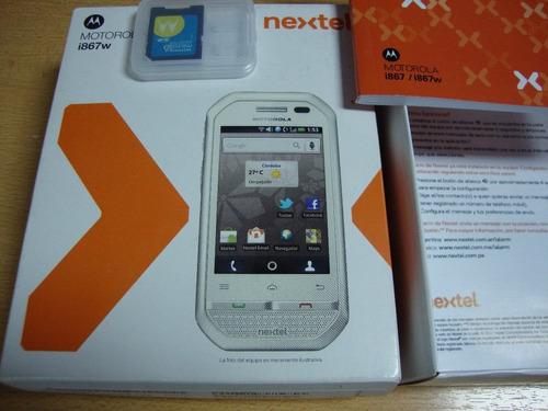 nextel i867 usado en caja i867w white edicion no anda watsap