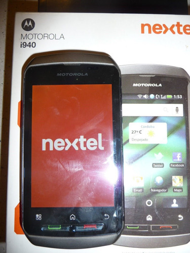 nextel i940 dorado touch screen en caja unico estado 8p