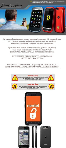 nextel iron rock xt626,