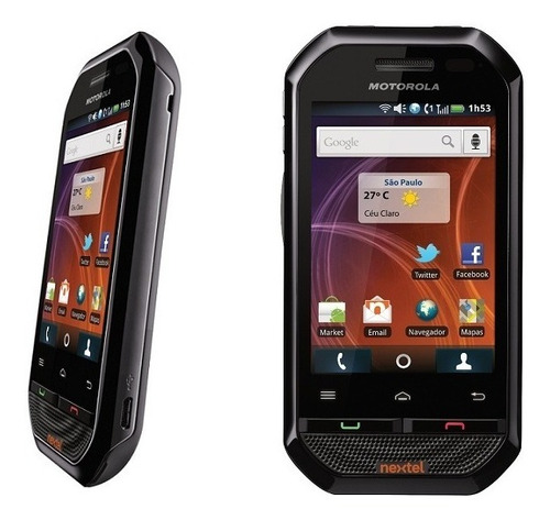nextel tactil ver#5 screen i867 black negro en caja original