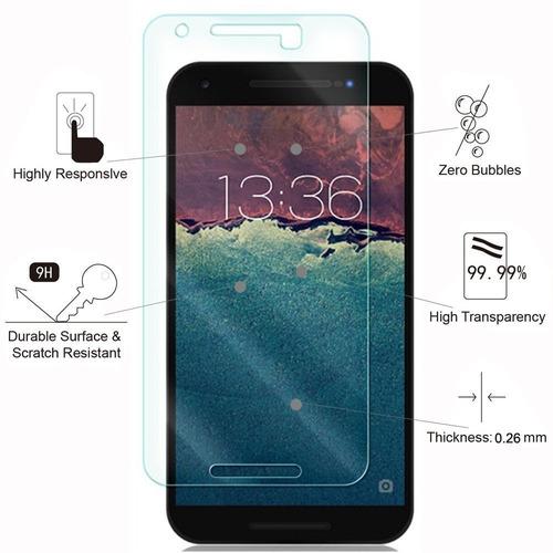 nexus 5x protector de la pantalla, tantek [burbuja-libre] [h