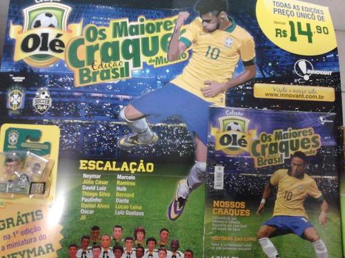 neymar miniatura craques do mundo + fasciculo lacrado