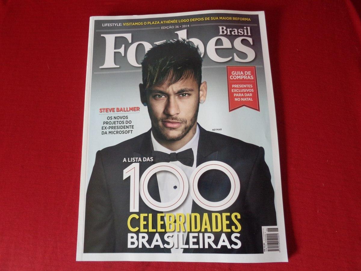 f25de7e69f6 Neymar Revista Forbes Brasil 100 Celebridades Bras. Ed.26 - R  49