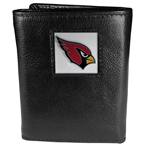 nfl arizona cardinals piel tri-fold wallet