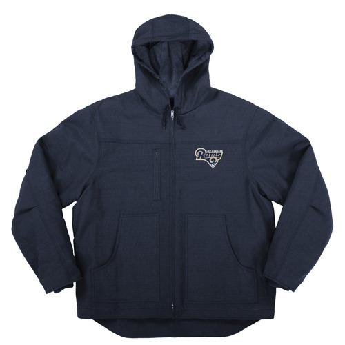 nfl chaqueta de lona con forro acolchado, azul, pequeño