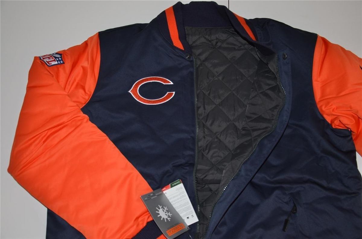9f26e6f48 Nfl Chicago Bears Nike Chamarra Xl Reversible Termica Osos ...