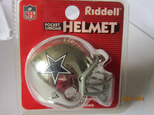 nfl dallas cowboys casco cromado riddell
