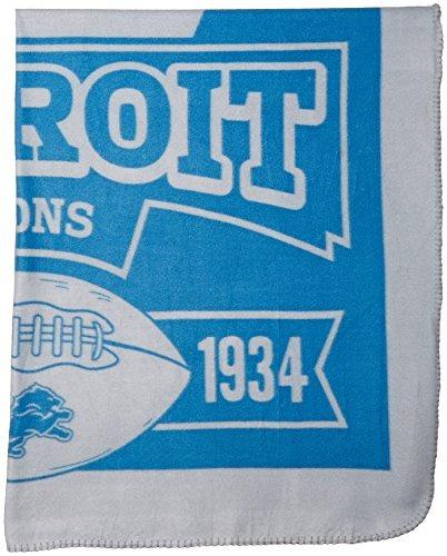 nfl detroit lions marque impreso throw paño grueso y suave,