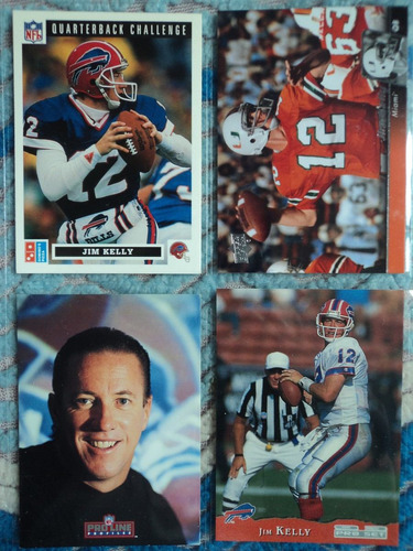 nfl fan_bills_4tjas qb jim kelly nuevas y no repetidas
