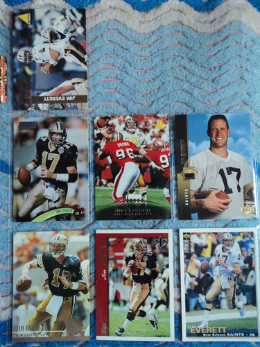 nfl fan_saints_7tjas qb jim everett nvas y no repetidas