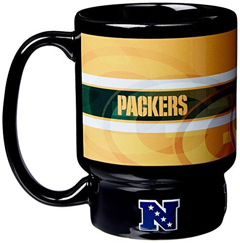 nfl green bay packers afc sculpted relay mug, 16 onzas