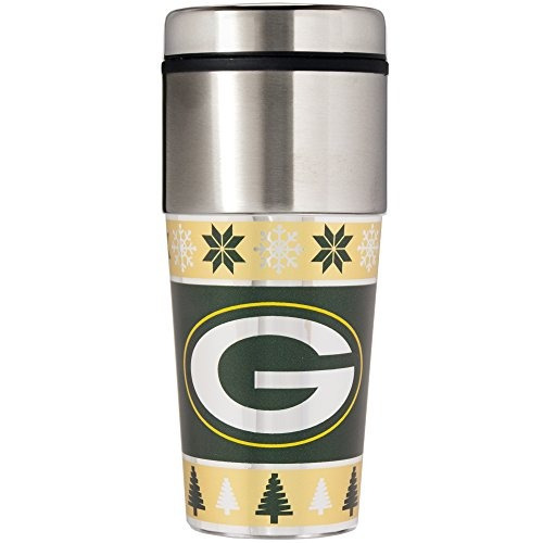 nfl green bay packers feo suéter viaje vaso, color verde, ta