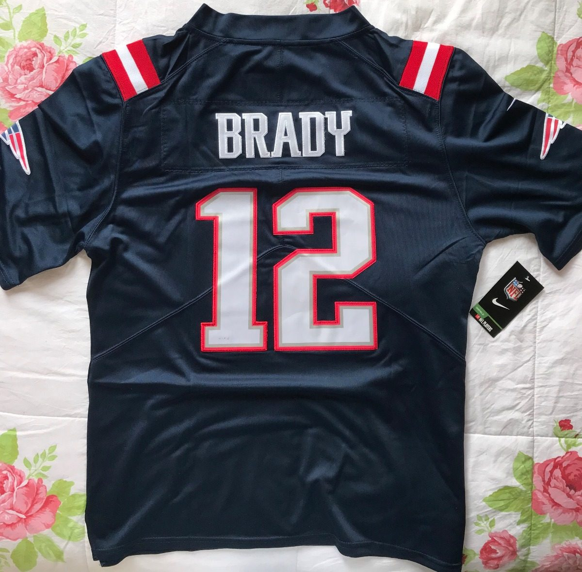 brand new 82156 26ac7 Nfl Jersey Nike New England Patriots Color Rush - Feminina