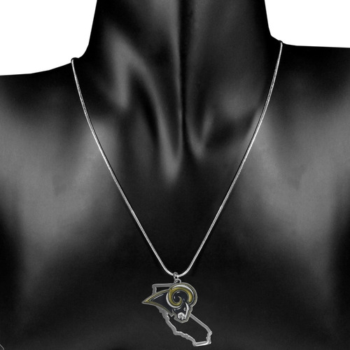 nfl los angeles rams state charm necklace, 18, metal