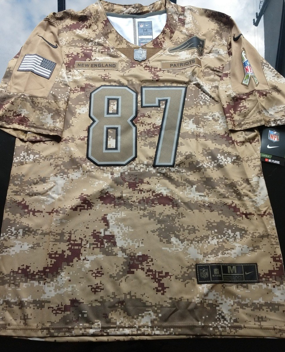 best service 111d9 54fa1 Nfl New England Patriots Jersey Salute To Service Gronkowski