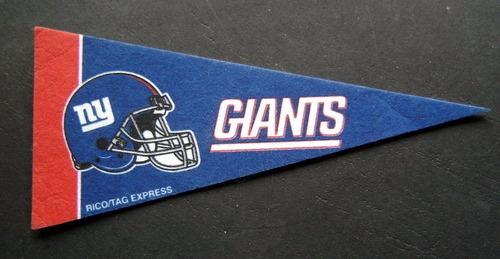 nfl new york giants casco cromado riddell y mini banderin