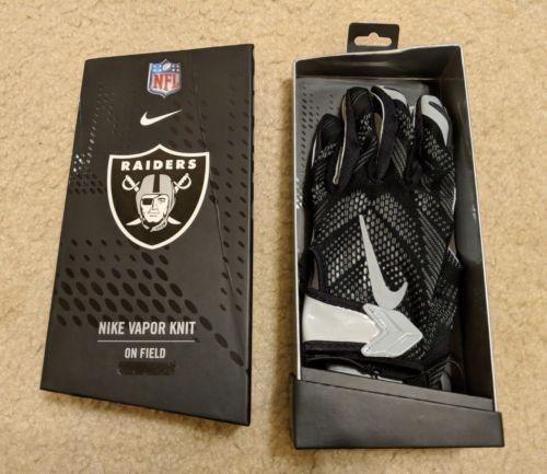 Nfl Nike Guantes Vapor Knit Oakland Raiders Para Juego -   1 0e39d1b90e1