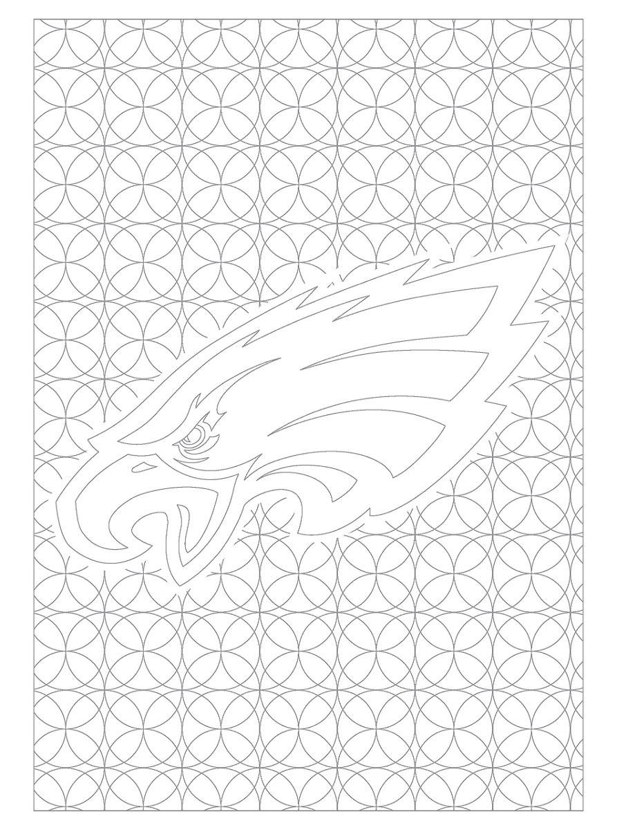 Nfl Philadelphia Eagles Unisex Adultos Colorear Libros Adult ...