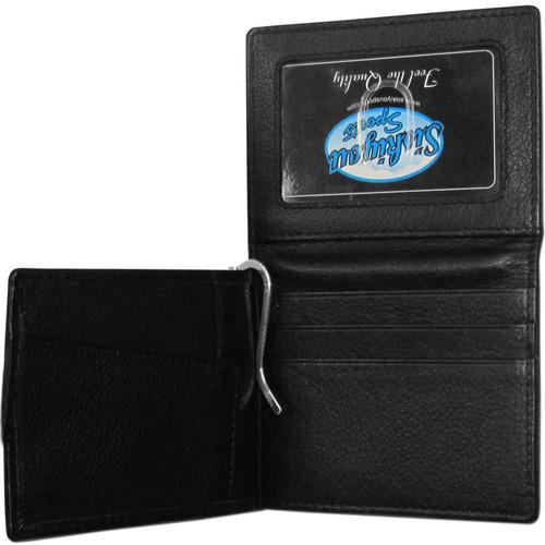 nfl piel bill clip wallet, negro