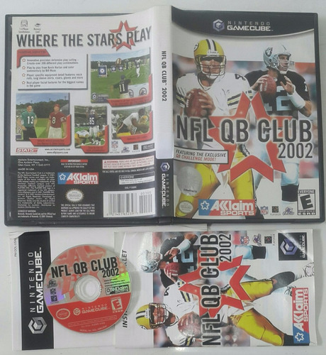 nfl qb club 2002 - football americano / gamecube & wii