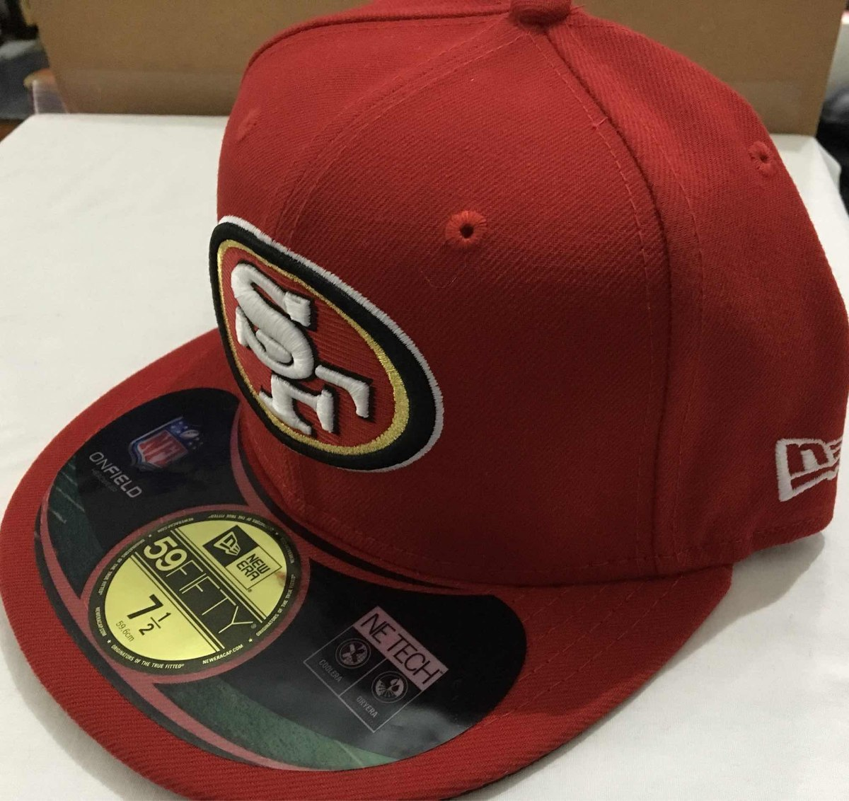 Nfl San Francisco 49ers Niners Gorra New Era 7 1 2 -   680.00 en ... 5ceed876f67