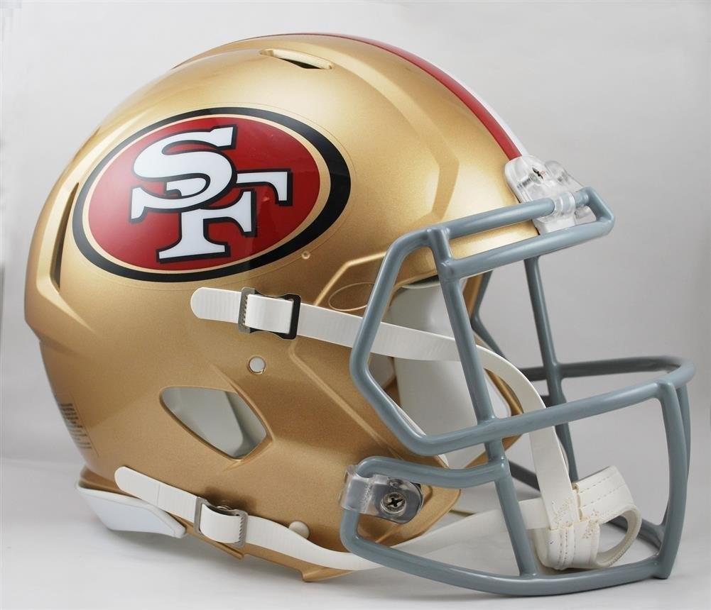 nfl san francisco auténtico casco de fútbol americano. Cargando zoom. 45a0a0f71c2