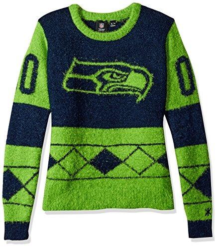 nfl seattle seahawks eyelash feo suéter de la mujer, tamaño