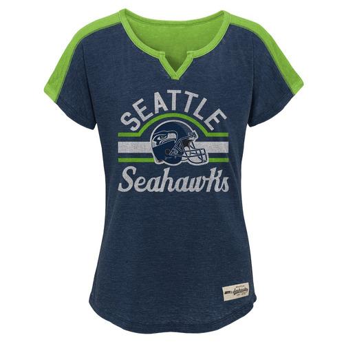 nfl seattle seahawks las niñas 7 - 40,6 cm homenaje fútbol t