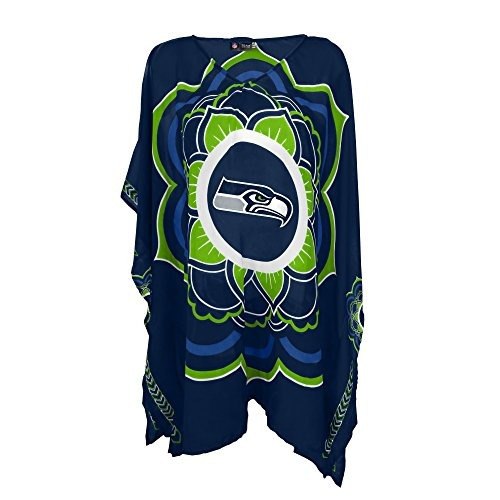 nfl seattle seahawks nfl caftan para mujer, verde lima, tall
